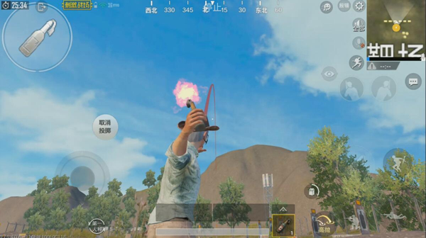 How can I use the PUBG Mobile guide to throw weapons? The