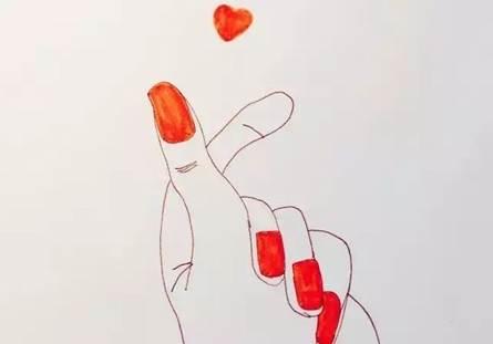 手绘长裙女孩 铅笔画