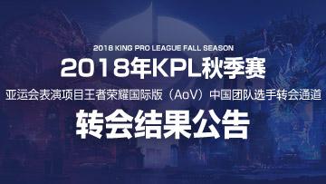 亚运会表演项目王者荣耀国际版(AoV)中国团队选手转会结果公布