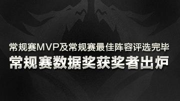 常规赛MVP及常规赛最佳阵容评选完毕,常规赛数据奖获奖者出炉